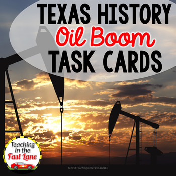 Oil Boom Task Cards with optional Self Checking QR Codes