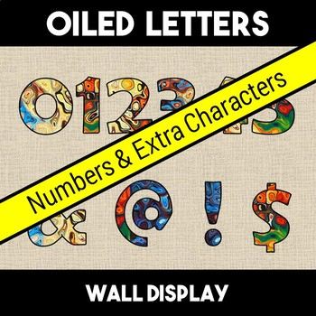 Oil Letters Alphabet Subject Wall Display