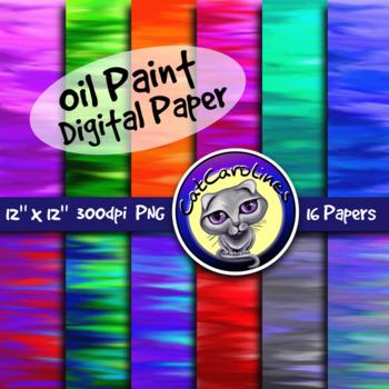 Oil Paint Digital Paper / Backgrounds