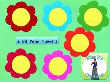 Oil Paint Flower Clip Art