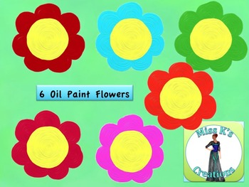 Oil Paint Flower Clip Art