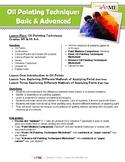 Oil Painting Techniques Basic & Advanced Lesson Plans & Worksheets