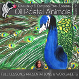Oil Pastel Lesson - Gridded drawing of Animals & Golden Ratio Lesson