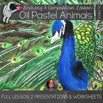 Oil Pastel Animals Lesson - Gridded drawing and Compositional Rules Lesson