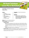 Oil Pastel Techniques Lesson Plan and Worksheets