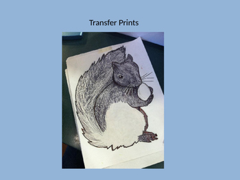 Oil Pastel Transfer Prints