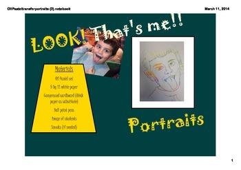 Oil Pastel transfer portraits