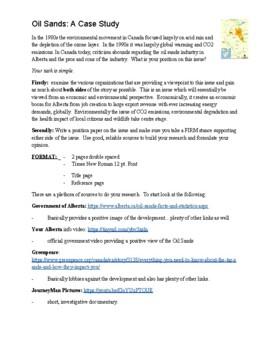 Oil Sands- Case Study