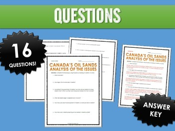 Oil Sands in Alberta, Canada - Bundle - Reading, Questions, Assignments