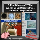 Oil Spill STEAM Project -- Research, Design, Build an Oil Spill Cleanup Device
