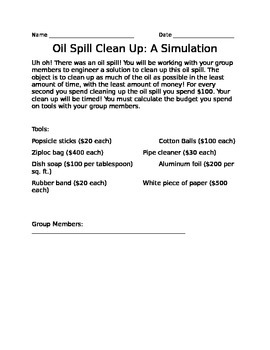 Oil Spill Simulation