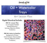 Oil & Watercolor Trays (Science, Art, STEAM, Physical Sciences)