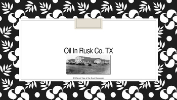 Oil in Rusk Country Texas