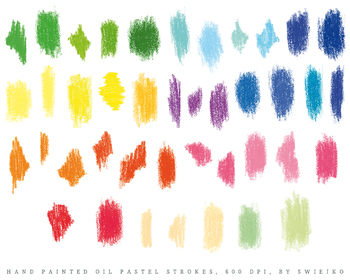 Oils Pastels Strokes, splotches, crayons, kids art