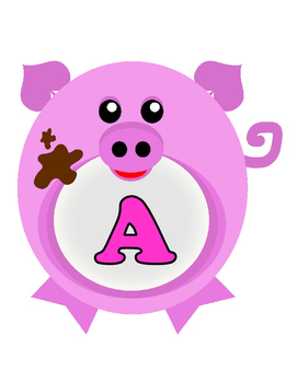 Oink!  Oink!  I Want My Mama!  Pigs-ABC's (Pink Letters)