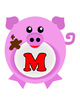 Oink!  Oink!  I Want My Mama!  Pigs-ABC's (Red Letters)