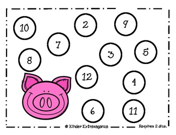 Oink, Oink!  Math Centers
