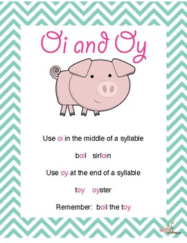 Oinkers!  Multisensory activities for oi and oy diphthongs-Orton Gillingham