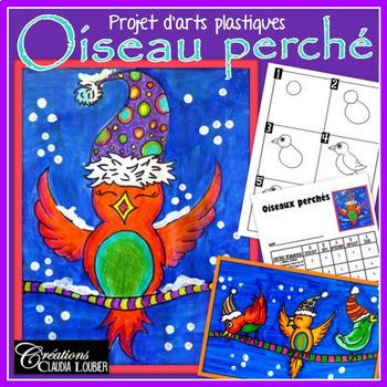 Hiver: Arts plastiques: Oiseaux perchés, Noël, plan de cours en français