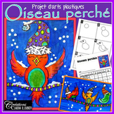 Hiver : Arts plastiques: Oiseaux perchés, Noël