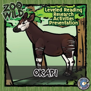 Okapi -- 10 Resources -- Coloring Pages, Reading & Activities