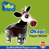 Okapi Craft Activity | 3D Paper Model
