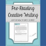 Okay for Now by Gary D. Schmidt Pre-Reading Creative Writi