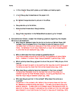 Okay for Now (by Gary D. Schmidt) Chapter 5 Resources