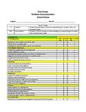2019-2020 Oklahoma 1st Grade Portfolio Documentation Sheets