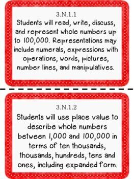 Oklahoma 3rd Grade Learning Objective Cards Math