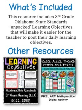 Oklahoma 3rd Grade Learning Objective Cards | Science