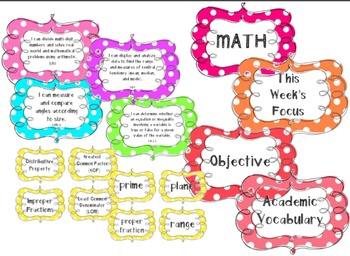 Oklahoma 5th Grade MATH Standards **I CAN Statements & Academic Vocabulary**