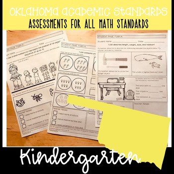 Oklahoma Academic Math Standards- Assessments for ALL Kindergarten Standards