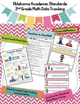 Oklahoma Academic Standards 2nd Grade Math Data Tracking Bundle