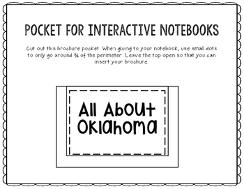 Oklahoma - State Research Project - Interactive Notebook - Mini Book