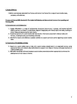 Oklahoma C3 4th Grade Social Studies Standards