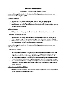 Oklahoma C3 Kindergarten Social Studies Standards