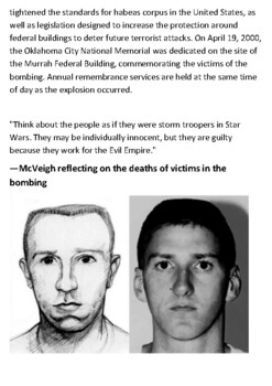 Oklahoma City Bombing Handout