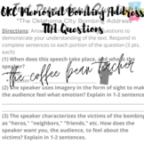 Oklahoma City Bombing Memorial Address Text-Dependent Questions