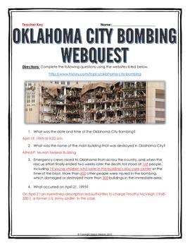 Oklahoma City Bombing - Webquest with Key