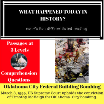 Oklahoma City Federal Building Bombing Differentiated Reading Passage March 8