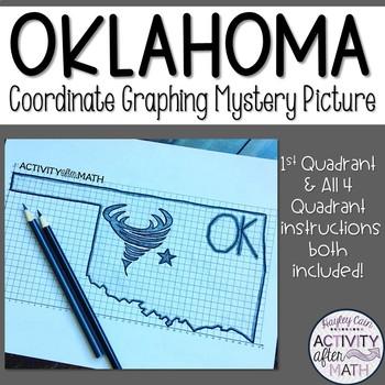 Oklahoma Coordinate Graphing Picture 1st Quadrant & ALL 4 Quadrants
