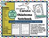 Oklahoma Cursive Practice Notebook