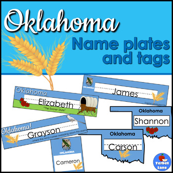 Oklahoma Desk Topper Name Plates
