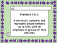 Oklahoma First Grade Math I Can Statements