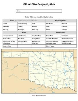 Oklahoma Geography Quiz