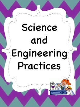 Oklahoma  Grade 4 Science I Can Statement Posters in Purple/Teal Chevron