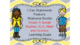 Oklahoma  Grade 5 I Can Statement Poster Bundle in Yellow