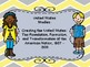 Oklahoma  Grade 5 SS I Can Statement Posters in Yellow and Gray Chevron