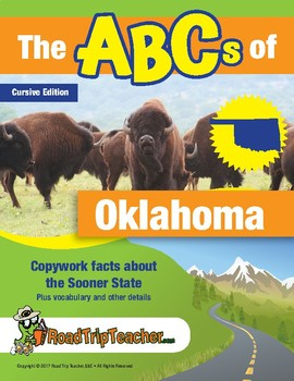 Oklahoma Handwriting Printables - Cursive Edition